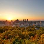lever de soleil sur le Mont-Royal